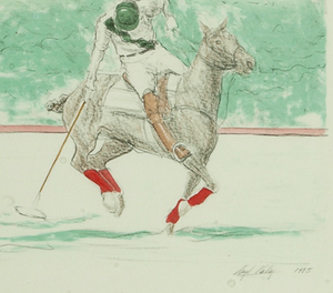 Polo Player Up c.1985 by Lloyd Kelly (b.1946-)