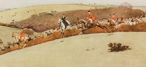 """A Hunting We Will Go"" by Cecil Aldin"