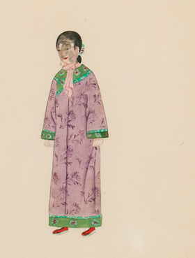 No. 21 Rose of A Manchu Girl c.1930's Gouache