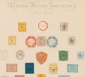 'United States Continued Private Offices Postage Stamps'