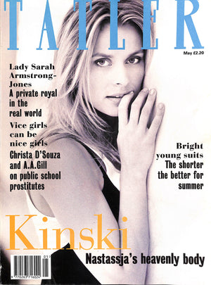 Tatler May 1994  Nastassja Kinski Cover