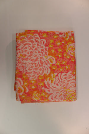 Lilly Pulitzer c.1960's Pink & Orange Floral Burst Key West Fabric