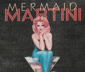 Mermaid Martini Promo Sign