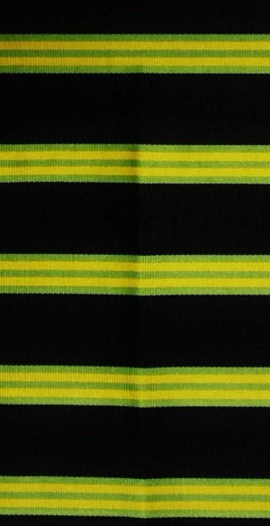 Brooks Brothers English Silk Neckwear Fabric w/ Navy, Green, & Gold Regimental Stripes