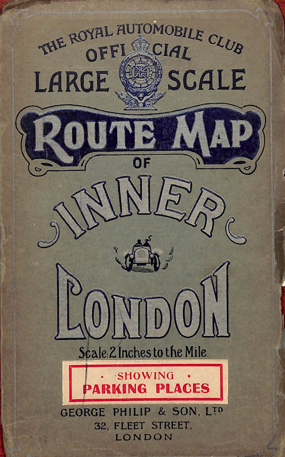 The Royal Automobile Club Official Large Scale Route Map of Inner London 1925