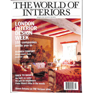 'The World of Interiors March 1996'