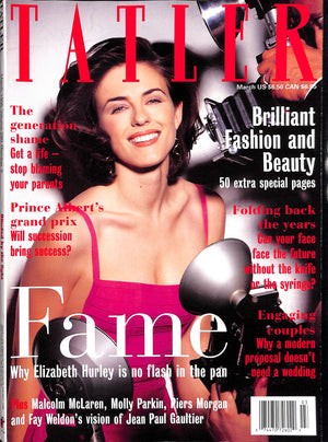 Tatler March 1995 Elizabeth Hurley Cover