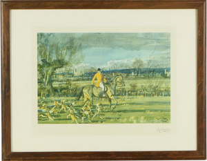 "Sir Alfred James Munnings Collotype ""Going Home"""