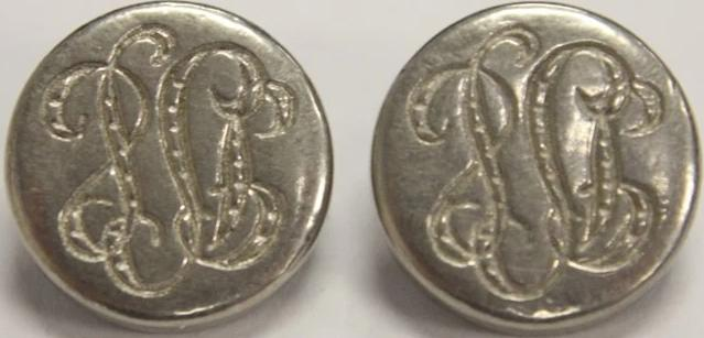 Pair of Monogram Initial Buttons