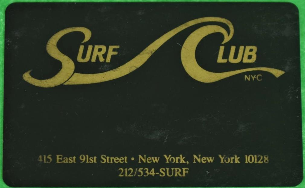 Ultra-Rare Surf Club Member's Card c1982