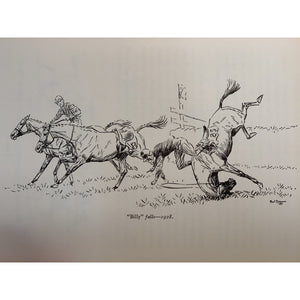 """Aintree Grand Nationals-Past and Present"" by Paul Brown w/ Original Pencil Drawing"