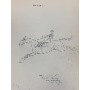 'Aintree Grand Nationals-Past and Present' by Paul Brown w/ Original Pencil Drawing