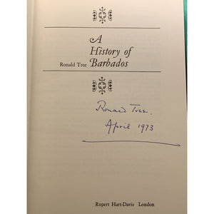 'A History of Barbados' 1972 by Ronald Lambert Tree (Signed!)