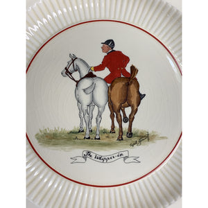 'Set of 5 Huntsman Ridgways Old Ivory Bedford Ware China Plates by Cyril Gorainoff'