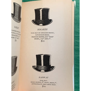 The Compleat Hatter Privately Printed John Cavanagh 247 Park Ave