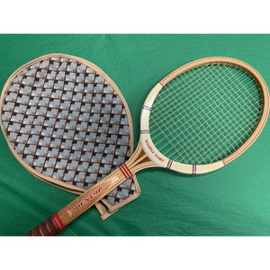 'Made in England c.1960's Dunlop Tennis Racket & Custom Needlepoint Cover'