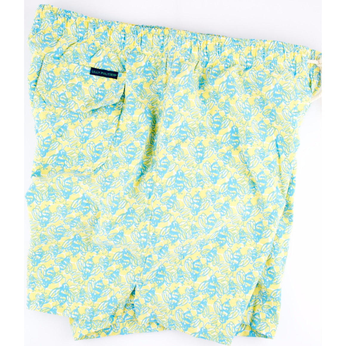 Lilly Pulitzer Bumblebee Print Swim Trunks Sz: Lg