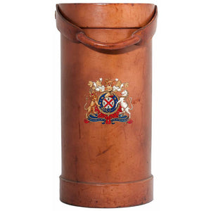 Regal Coat of Arms Shooting Stick/Umbrella Leather Stand