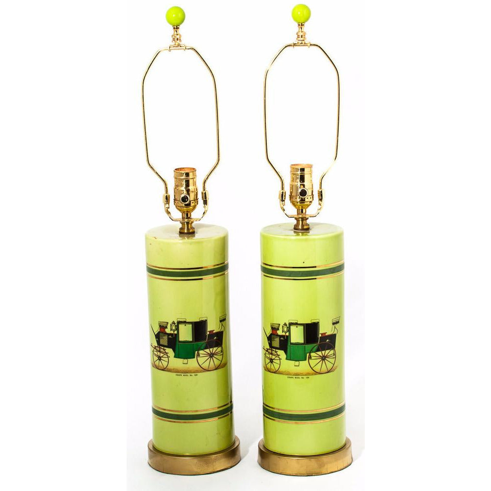 Pair of Coaching Table Lamps
