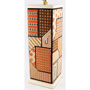 Geometric Needlepoint Table Lamp
