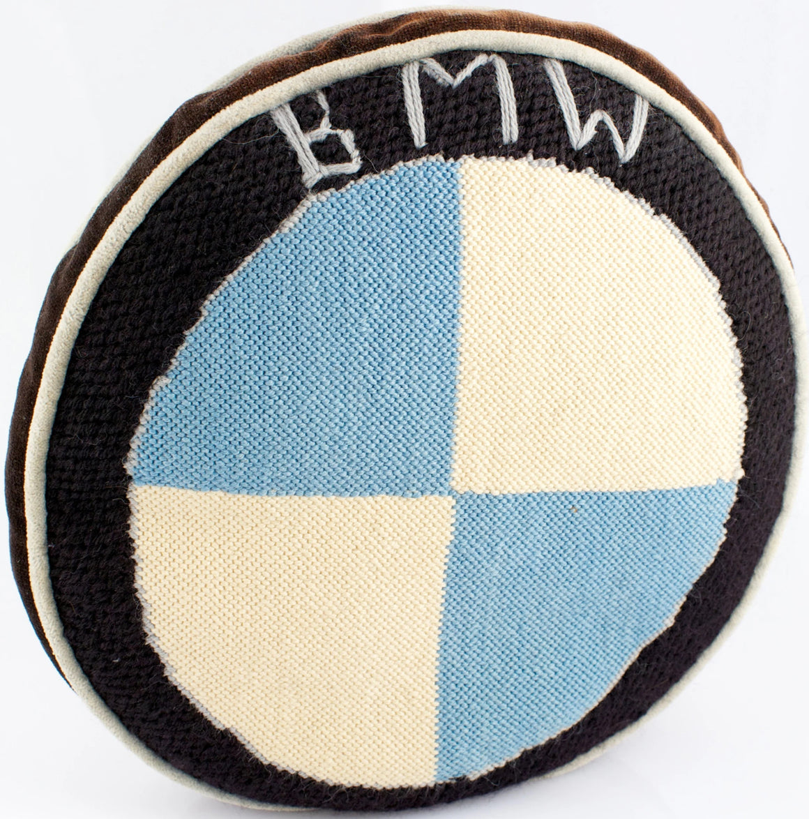 BMW Needlepoint Pillow