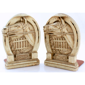 Steeplechase Horse Head Bookends