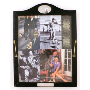 Polo Mallets Ebony Picture Frame w/ Sterling Oval