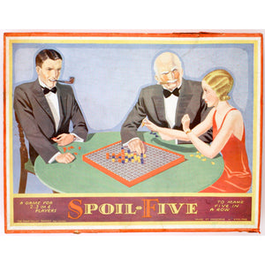 Vintage 'Spoil Five' Parlor Board Game
