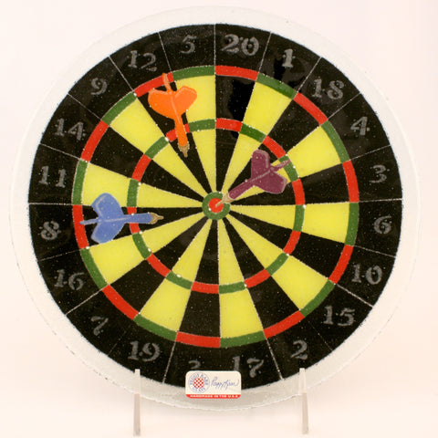 Glass Dartboard Plate