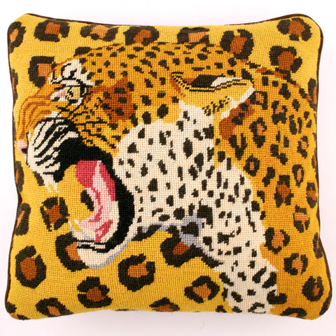 Animal Print Needlepoint Pillows :