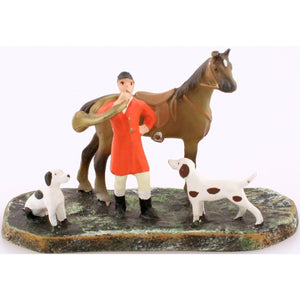 Austrian Bronze Fox Hunter w/ Hounds