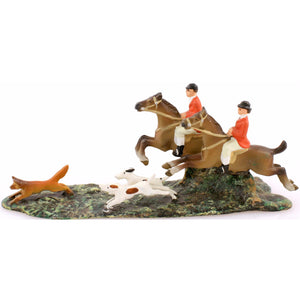 Austrian Bronze Fox Hunt Scene
