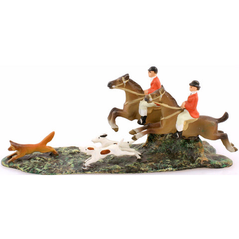 """Austrian Bronze Fox Hunt Scene"""