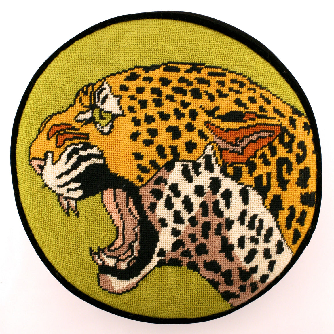 Leopard Needlepoint Pillow