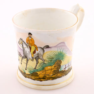 Porcelain Fox Hunter Shaving Mug