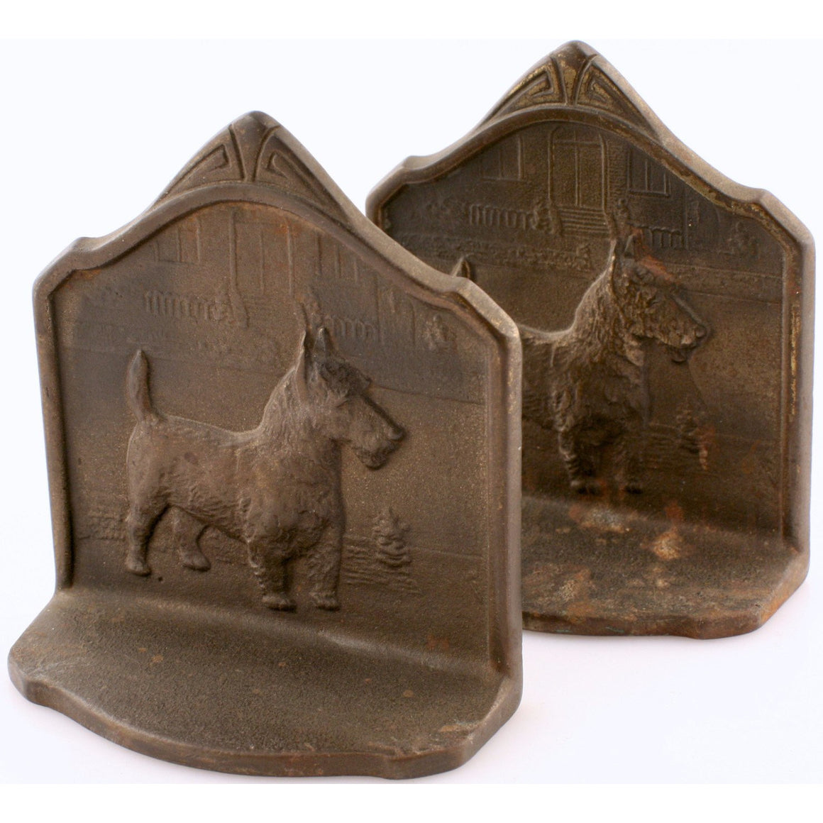 Scottie Bronze Bookends
