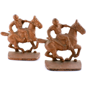 Polo Player Bronze Bookends
