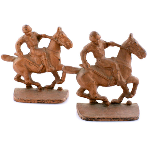 """Polo Player Bronze Bookends"""