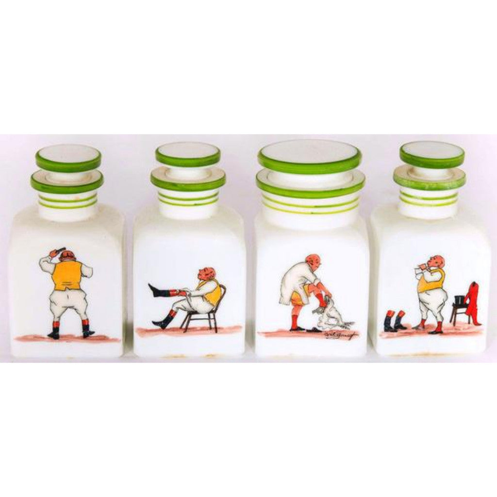 Set of Four Abercrombie & Fitch Cyril Gorainoff Vanity Jars