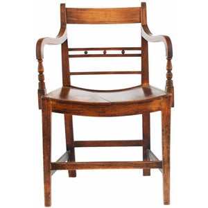 English Regency Library Armchairs