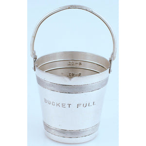 Napier Silver-Plate Bucket Full Measuring Cup