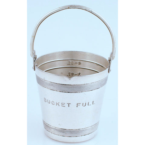 """Napier Silver-Plate 'Bucket Full' Measuring Cup'"