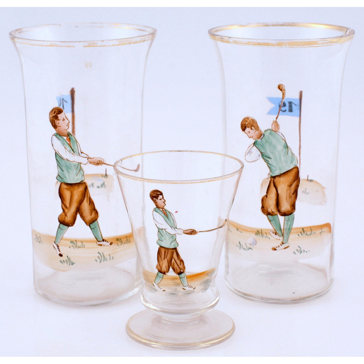 Set of 3 Golfer Glasses