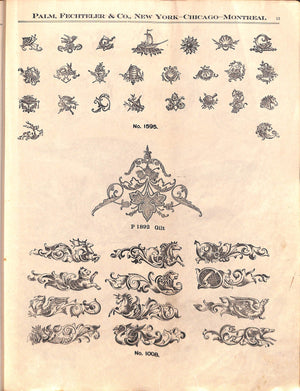 """Sample Book of Transfer Ornaments"""