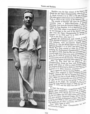 """The Willis Faber Book of Tennis & Rackets"" Lord Aberdare"