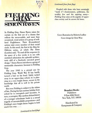 """Fielding Gray"" 1967 by Raven, Simon"