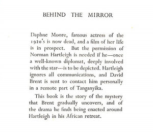 """Behind The Mirror"" 1955 Maugham, Robin"
