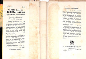 """Crosby Gaige's Cocktail Guide and Ladies' Companion"""