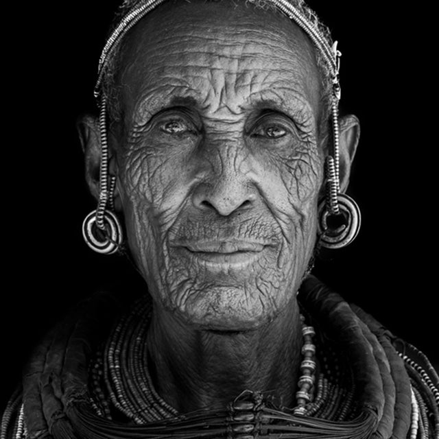 Black and white portrait photography africa tribe by photographer benoit feron alexia werrie gallery art in a house tervuren belgium