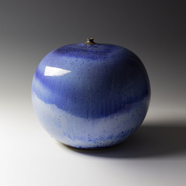 Artist Antonio Lampecco ceramic artwork blue